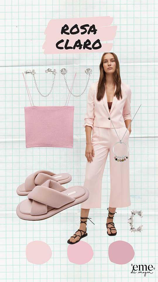 color rosa pastel primavera verano 2021